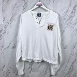 Vintage 90's Floria Sunshine State Henley T-Shirt